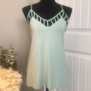Buckle Red Mint Green Tank Top